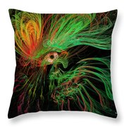 The Eye Of The Medusa Throw Pillow by Angela A Stanton