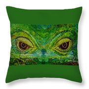 The Eyes Have It Throw Pillow by Julie Brugh Riffey