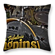 The Fabulous Kingpins Drums Throw Pillow by David Patterson