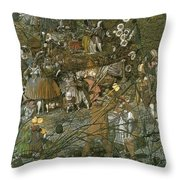 The Fairy Feller Master Stroke Throw Pillow by Richard Dadd