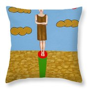 The Fame Game Throw Pillow by Patrick J Murphy