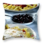 The Feast Throw Pillow by Camille Lopez