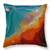 The Final Frontier Throw Pillow by Barbara McMahon