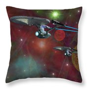 The Final Frontier Throw Pillow by Michael Rucker
