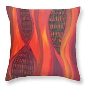 The Fire Molecule Throw Pillow by Daina White