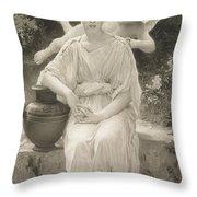 The First Whisper Of Love After Bouguereau Throw Pillow by  John Douglas Miller