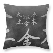 The Five Elements Throw Pillow by Dan Sproul