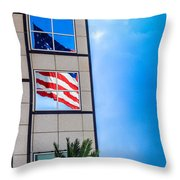 The Flag That Never Hides Throw Pillow by Rene Triay Photography