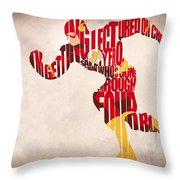 The Flash Throw Pillow by Ayse Deniz