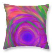 The Flora Is Breathing Throw Pillow by Daina White