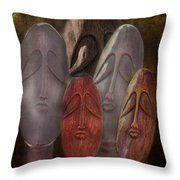 The Following Throw Pillow by Terry Fleckney