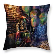 The Fool Dreamer Throw Pillow by Kd Neeley