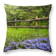 The Forest Is Calling Throw Pillow by Debra and Dave Vanderlaan