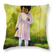 The Forsythia Throw Pillow by Marlene Book