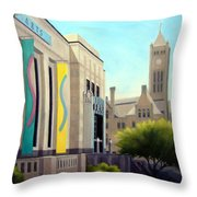 The Frist Center Throw Pillow by Janet King