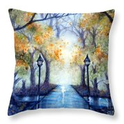 The Future Looks Bright Throw Pillow by Janine Riley