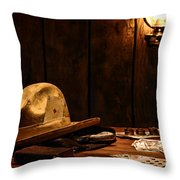 The Gambler Throw Pillow by Olivier Le Queinec