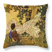 The Garden Of Paradise IIi Throw Pillow by Edmund Dulac