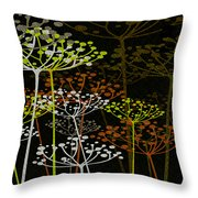 The Garden Of Your Mind 2 Throw Pillow by Angelina Vick
