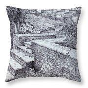 The Garden Wall Throw Pillow by Janet Felts