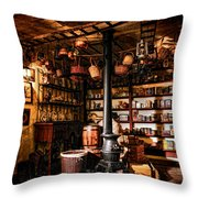 The General Store In My Basement Throw Pillow by Olivier Le Queinec
