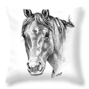 The Gentle Eye Horse Head Study Throw Pillow by Renee Forth-Fukumoto