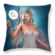 The Gift Throw Pillow by Elle Arden Walby