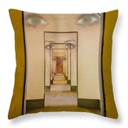 The Girl With Far Away Eyes Throw Pillow by Bill Gallagher