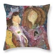 the Girls Throw Pillow by Sherry Harradence