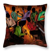 The Gitdown Hoedown Throw Pillow by Larry Martin