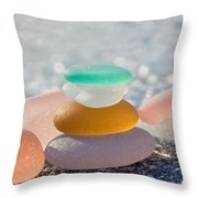 The Glass House Throw Pillow by Barbara McMahon