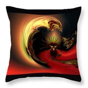 The Glory Of His Eminance Throw Pillow by Claude McCoy