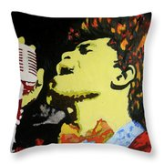 The God Father Of Soul James Brown Throw Pillow by Ronald Young