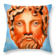 The God Jupiter Or Zeus.  Throw Pillow by Augusta Stylianou
