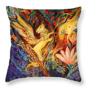 The Golden Griffin Throw Pillow by Elena Kotliarker