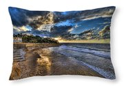 the golden hour during sunset at Israel Throw Pillow by Ronsho