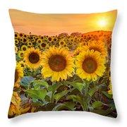 The Golden Hour Throw Pillow by Jill Van Doren Rolo