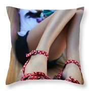 The Good Life Throw Pillow by Laura Fasulo