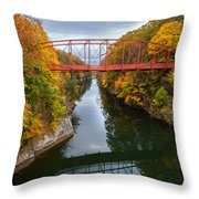 The Gorge Square Throw Pillow by Bill Wakeley