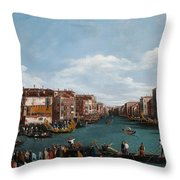The Grand Canal at Venice Throw Pillow by Antonio Canaletto