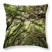 The Green Mile Savannah Ga Throw Pillow by William Dey
