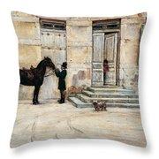 The Groom  Throw Pillow by Giuseppe De Nittis