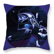 The Hallucinator Throw Pillow by Shelley  Irish