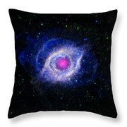 The Helix Nebula  Throw Pillow by The  Vault - Jennifer Rondinelli Reilly