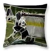 The Hockey Goalie Throw Pillow by Bob Christopher