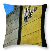 The Hollywood Heights Hotel Throw Pillow by Janice Rae Pariza
