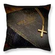 The Holy Bible Throw Pillow by David and Carol Kelly