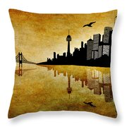 The Hubris Of Mankind 1 Throw Pillow by Angelina Vick