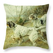 The Hunt Throw Pillow by Edmund Henry Osthaus