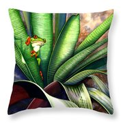 The Intruder Throw Pillow by Lyse Anthony